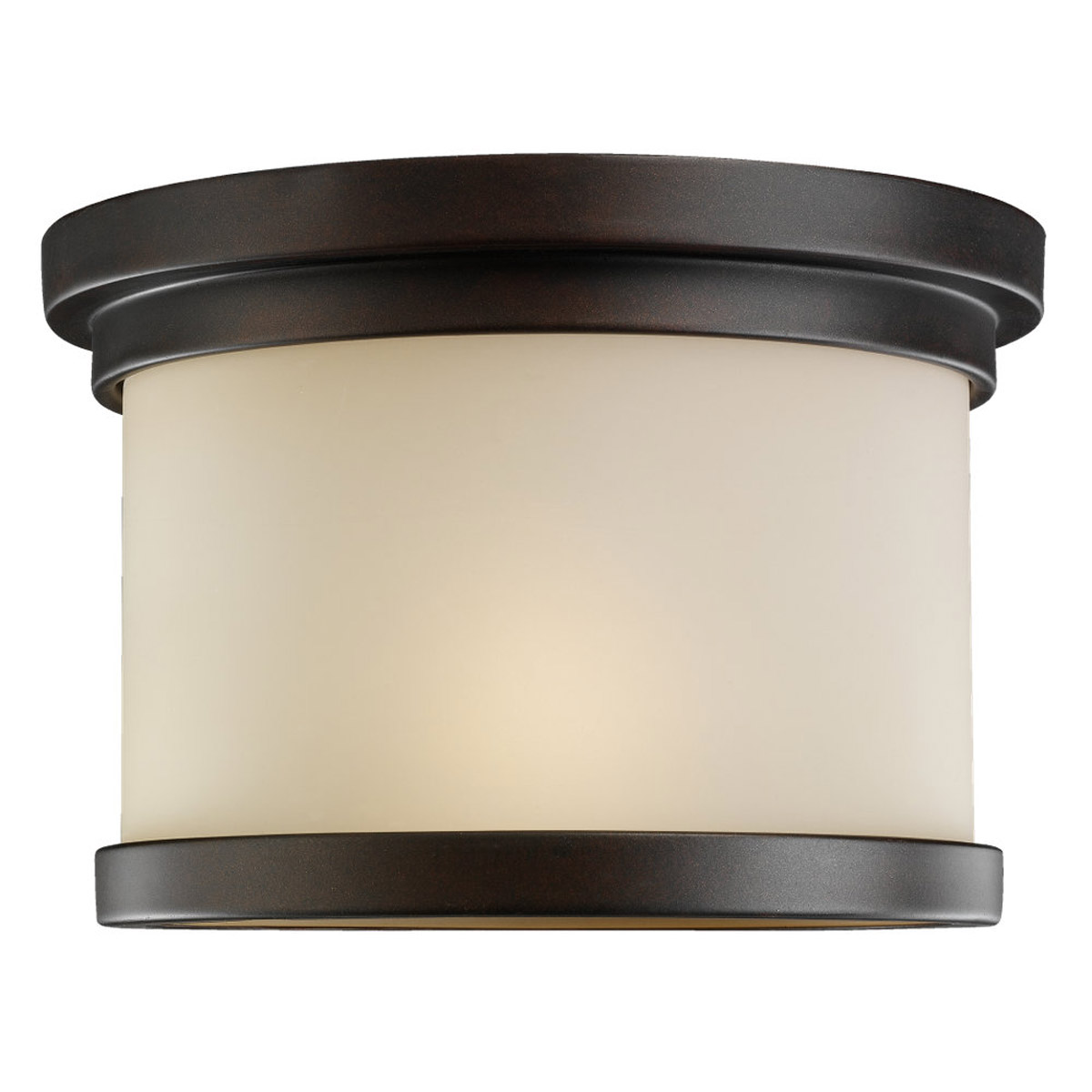 Sea Gull Lighting Winnetka 1 Light Outdoor Ceiling Fixture in Misted Bronze 78660-814