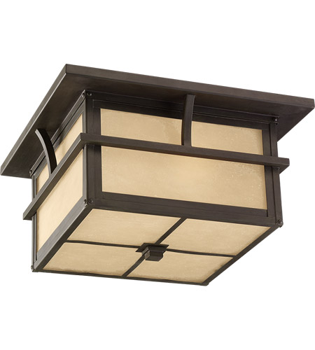 Sea Gull Lighting Medford Lakes 2 Light Outdoor Ceiling Fixture in Statuary Bronze 78880-51