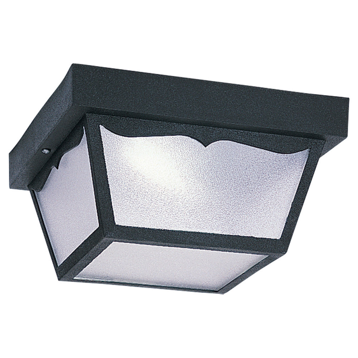 Sea Gull Lighting Signature 1 Light Flush Mount in Black 79021PBLE-12 photo