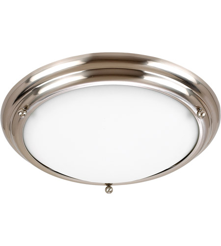 Sea Gull 79097BLE-98 Centra 3 Light 15 inch Brushed Stainless Flush Mount Ceiling Light photo