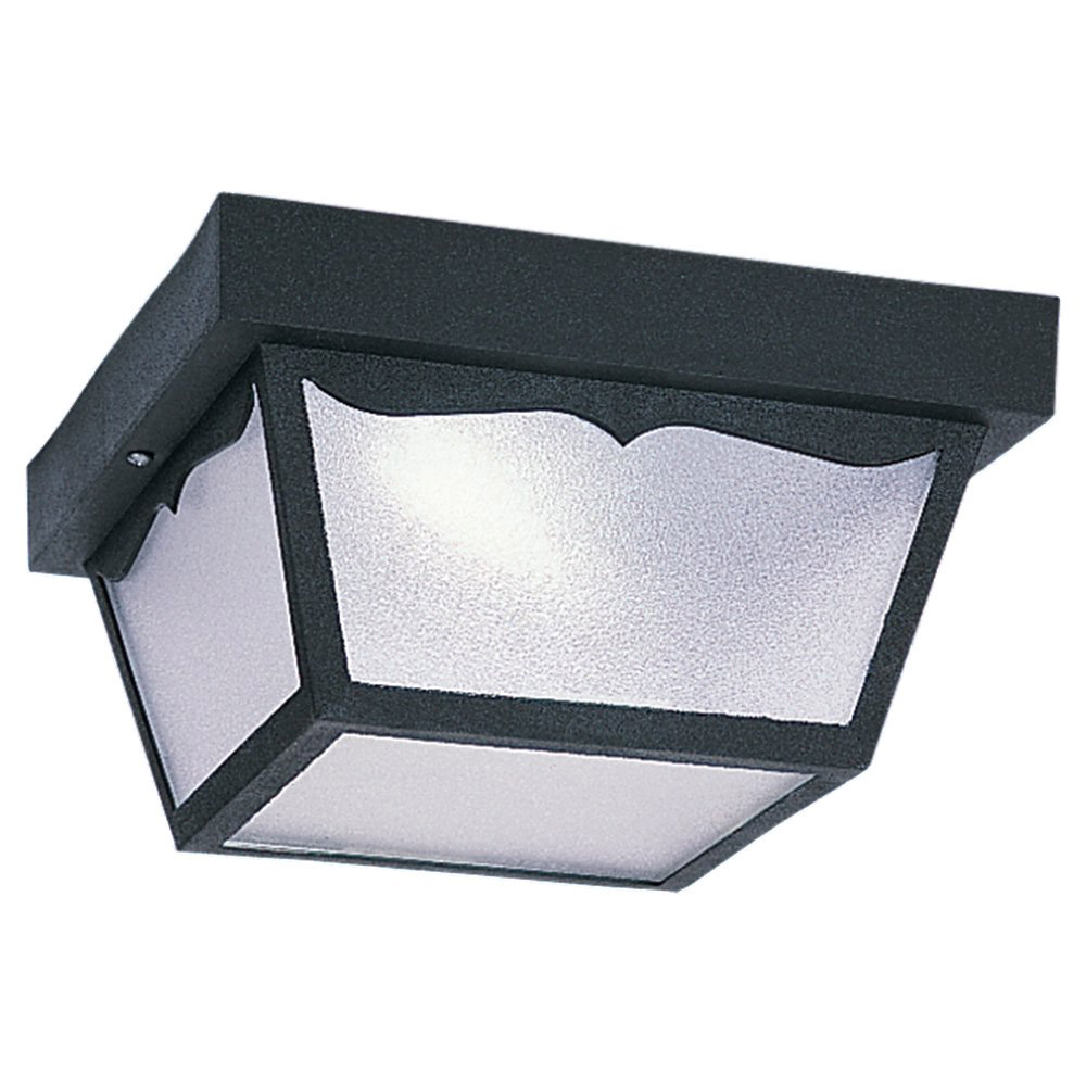 Sea Gull 79121BLE-12 Signature 1 Light 10 inch Black Flush Mount Ceiling Light photo