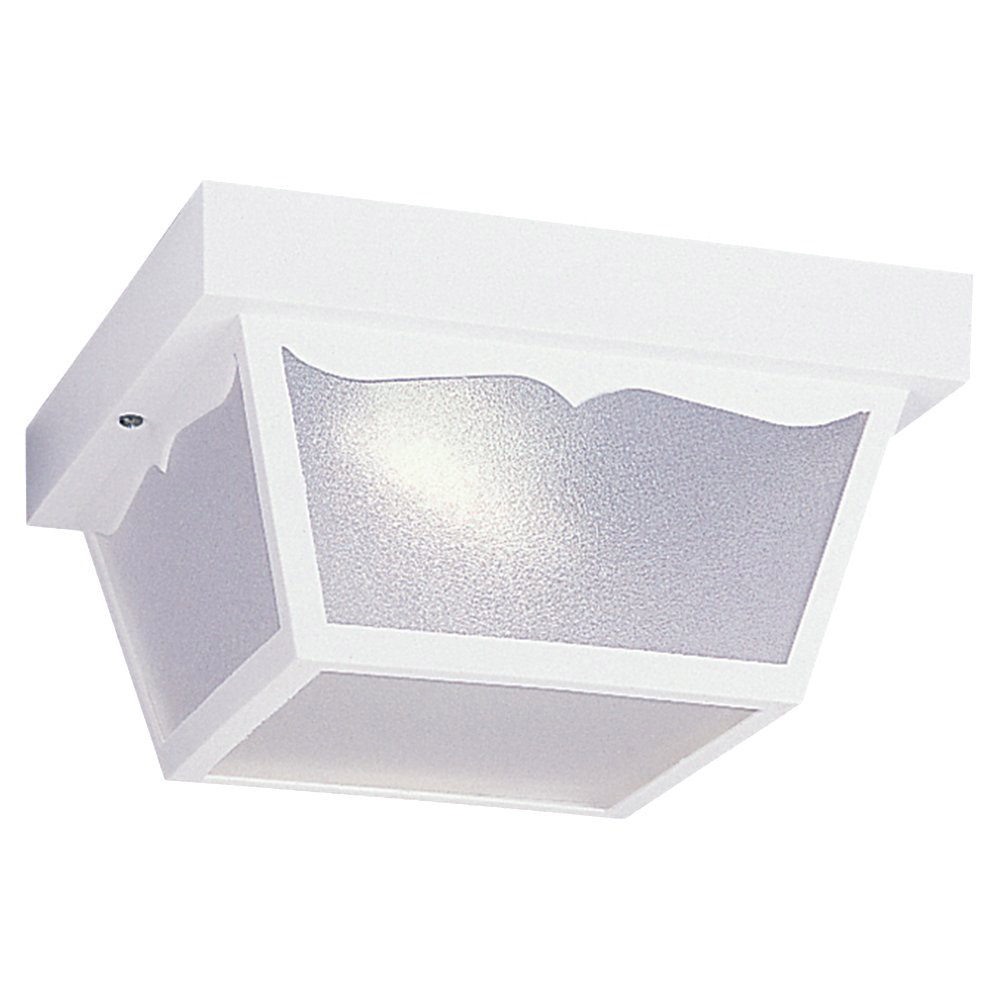 Sea Gull Lighting Signature 1 Light Flush Mount in White 79121BLE-15