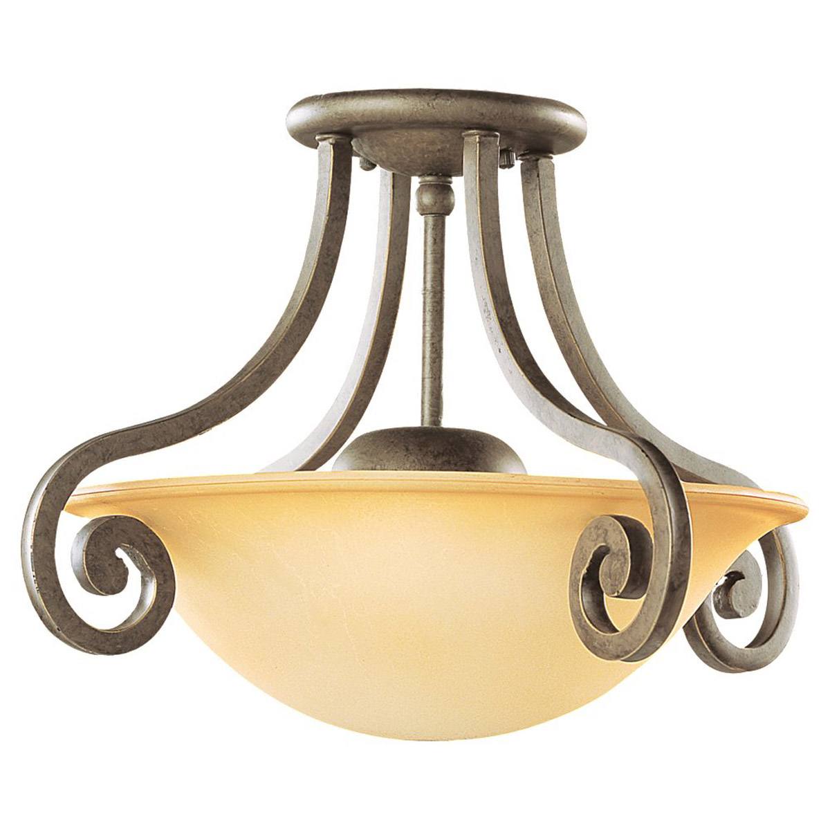 Sea Gull Lighting Brandywine 1 Light Fluorescent Semi-Flush Mount in Antique Bronze 79132BLE-71