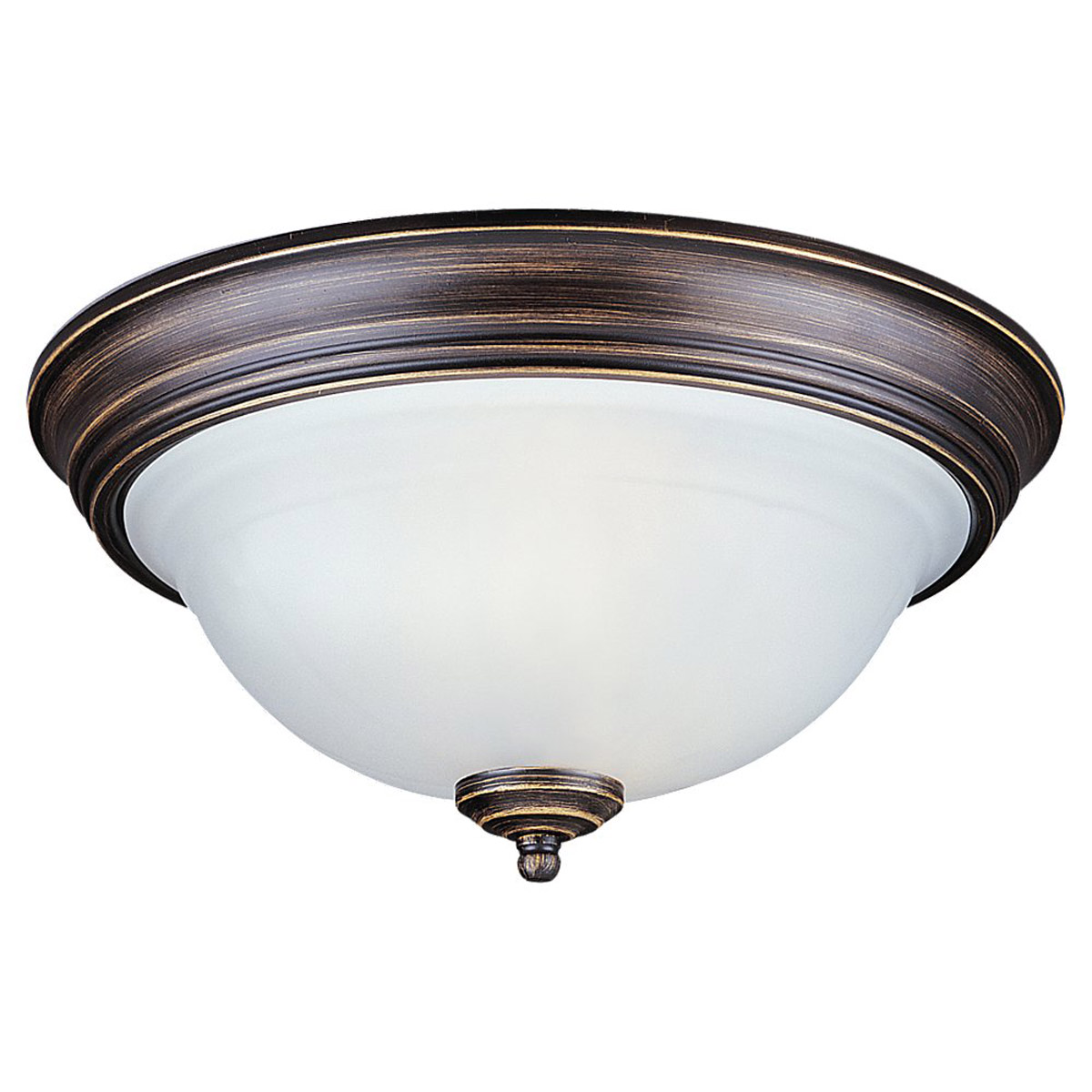 Sea Gull Lighting Canterbury 2 Light Flush Mount in Antique Bronze 79150BLE-71 photo