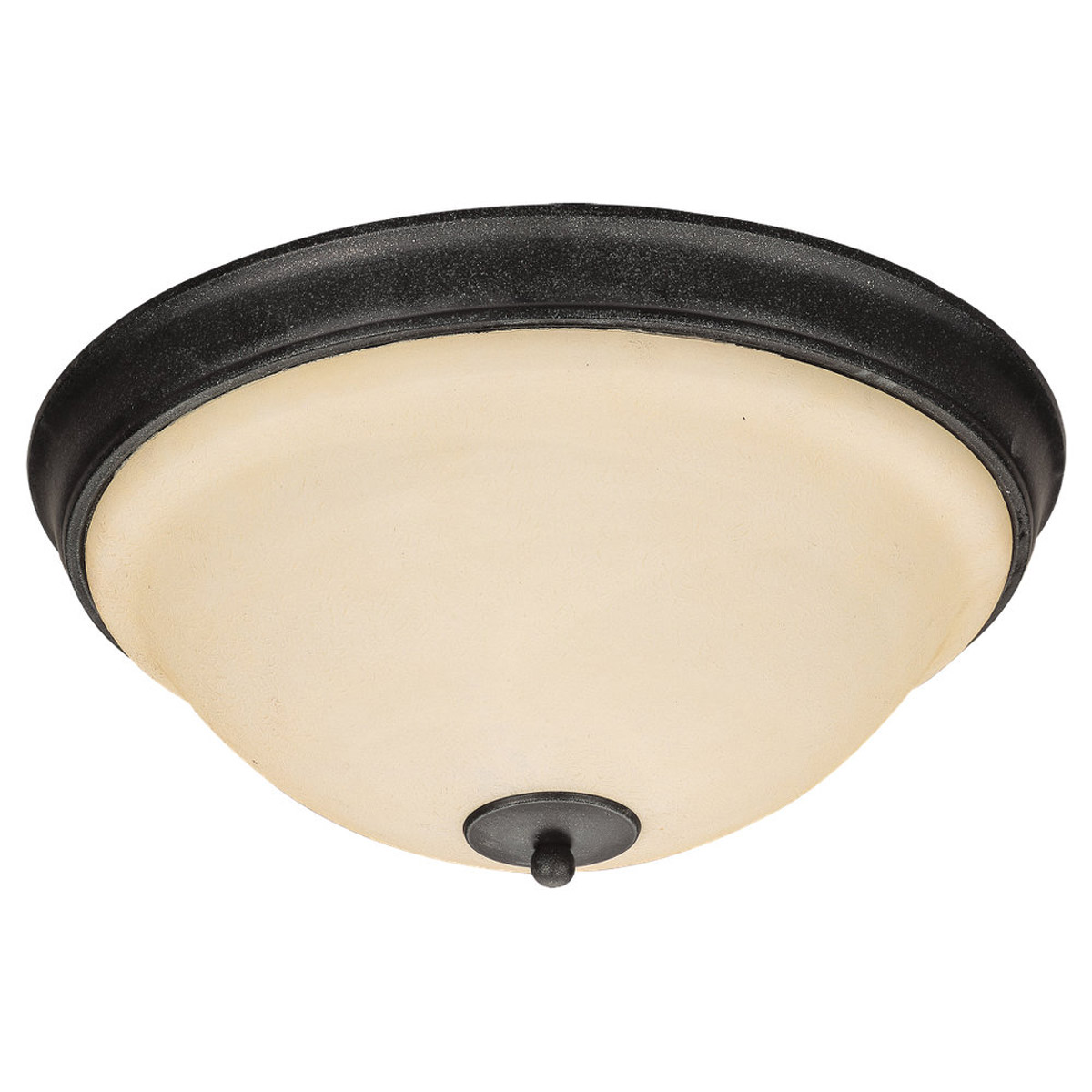 Sea Gull Lighting Serenity 3 Light Flush Mount in Weathered Iron 79158BLE-07 photo