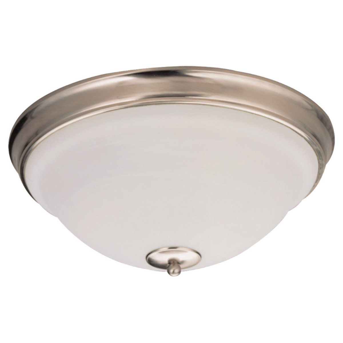 Sea Gull Lighting Serenity 3 Light Flush Mount in Brushed Nickel 79158BLE-962