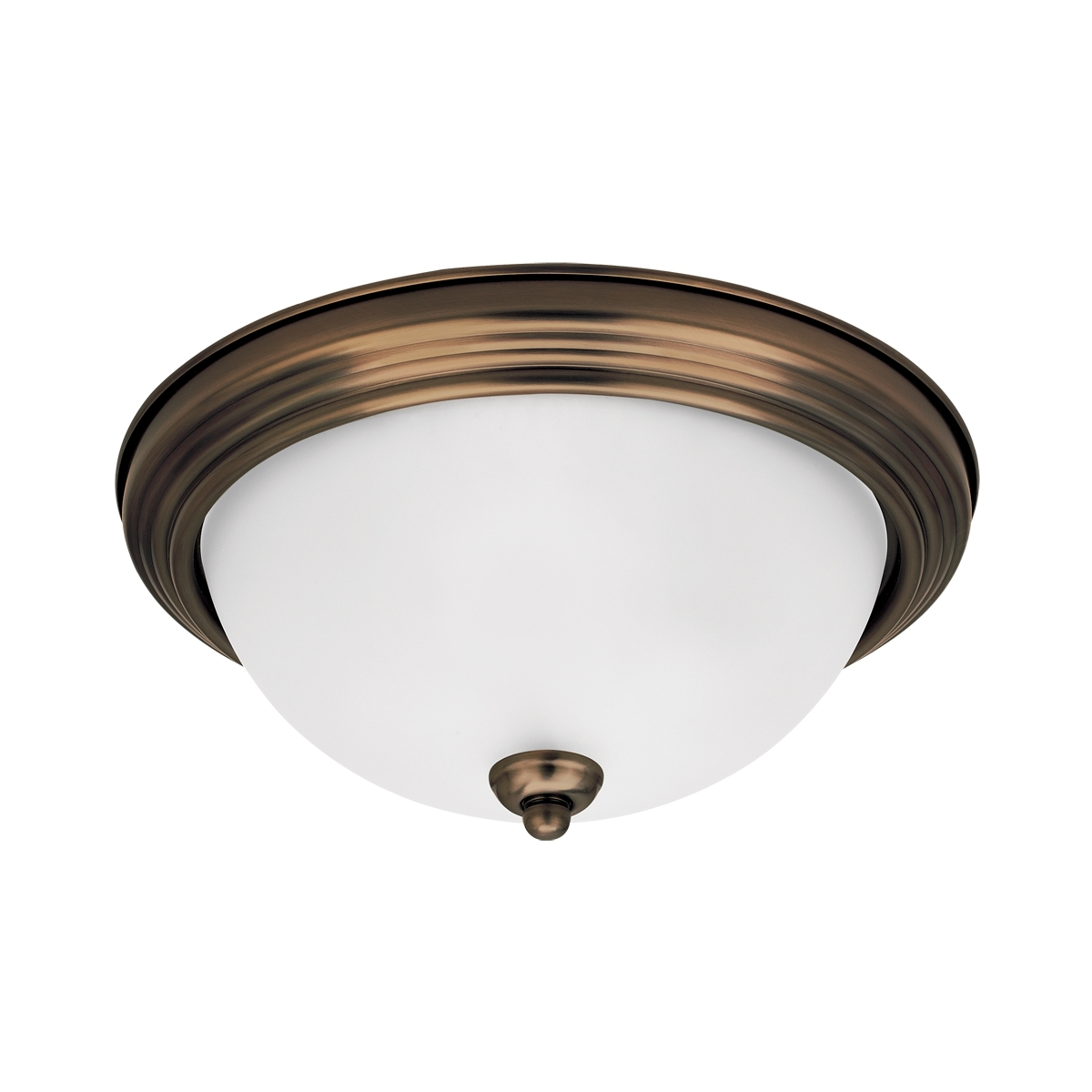 Sea Gull Signature 1 Light Flush Mount in Russet Bronze 79163BLE-829 photo