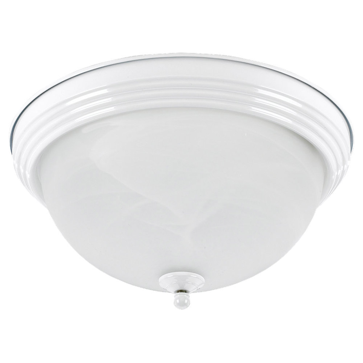 Sea Gull Lighting Ridley 2 Light Flush Mount in White 79177BLE-15