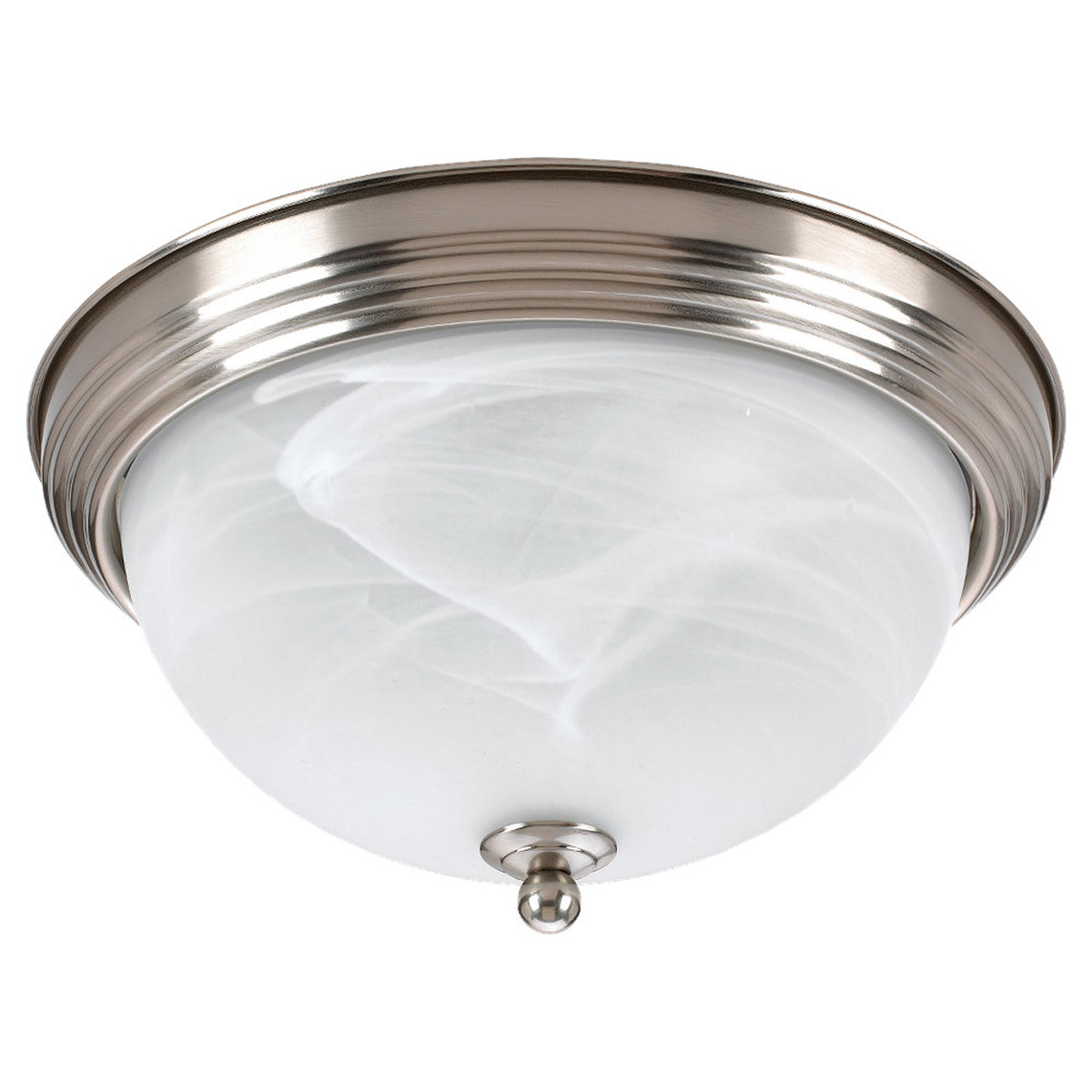 Sea Gull Lighting Ridley 2 Light Flush Mount in Brushed Nickel 79177BLE-962