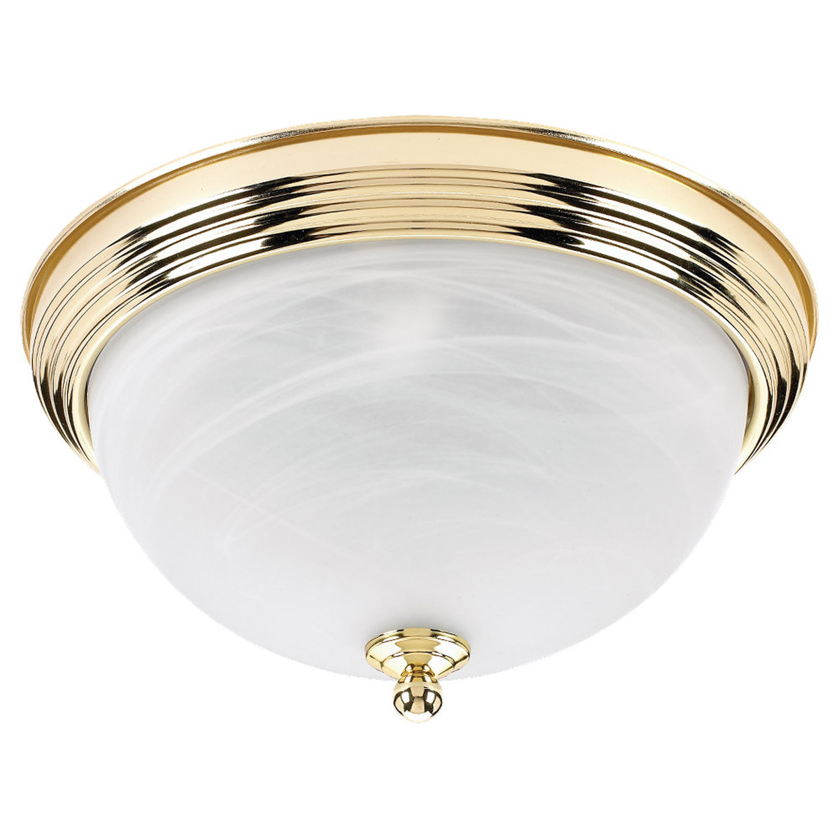 Sea Gull Lighting Ridley 3 Light Flush Mount in Polished Brass 79178BLE-02 photo