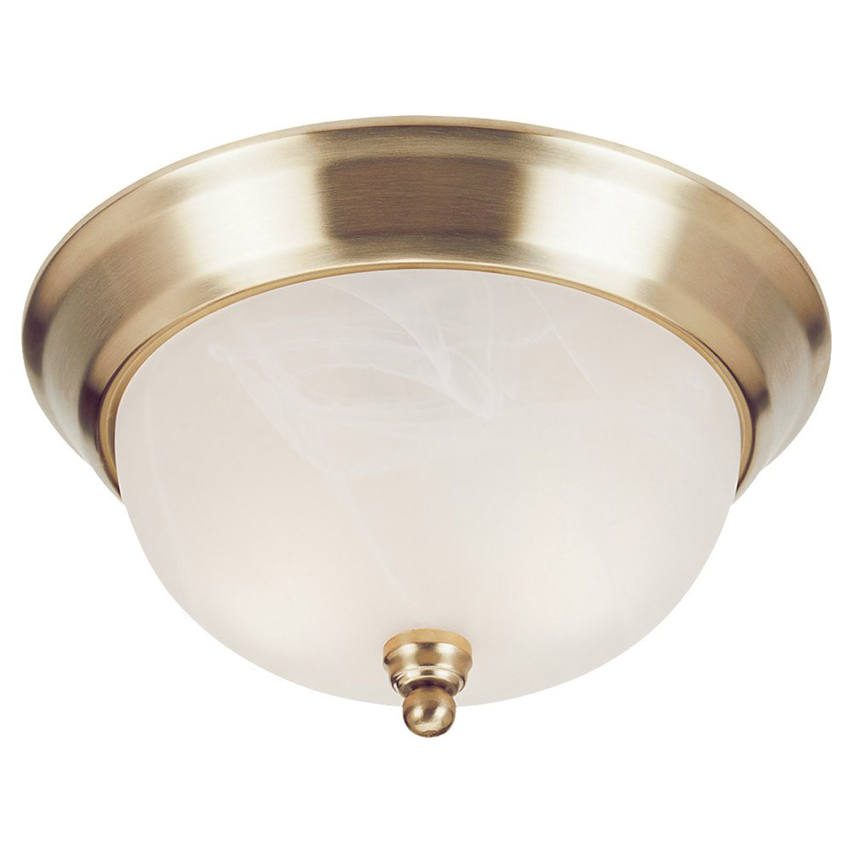 Sea Gull Lighting Landon 3 Light Fluorescent Flush Mount in Polished Brass 79242BLE-02 photo