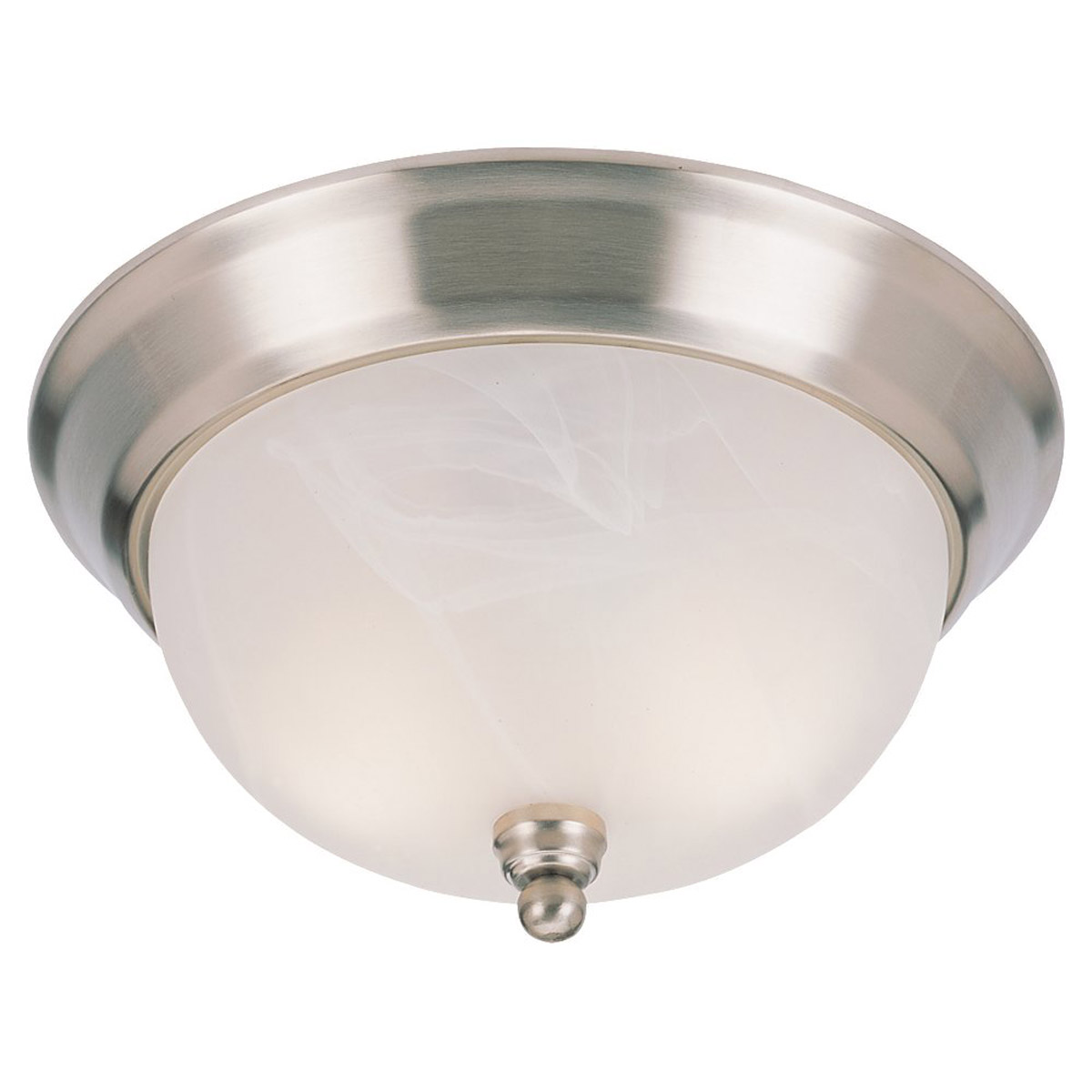 Sea Gull Lighting Landon 3 Light Fluorescent Flush Mount in Brushed Nickel 79242BLE-962 photo