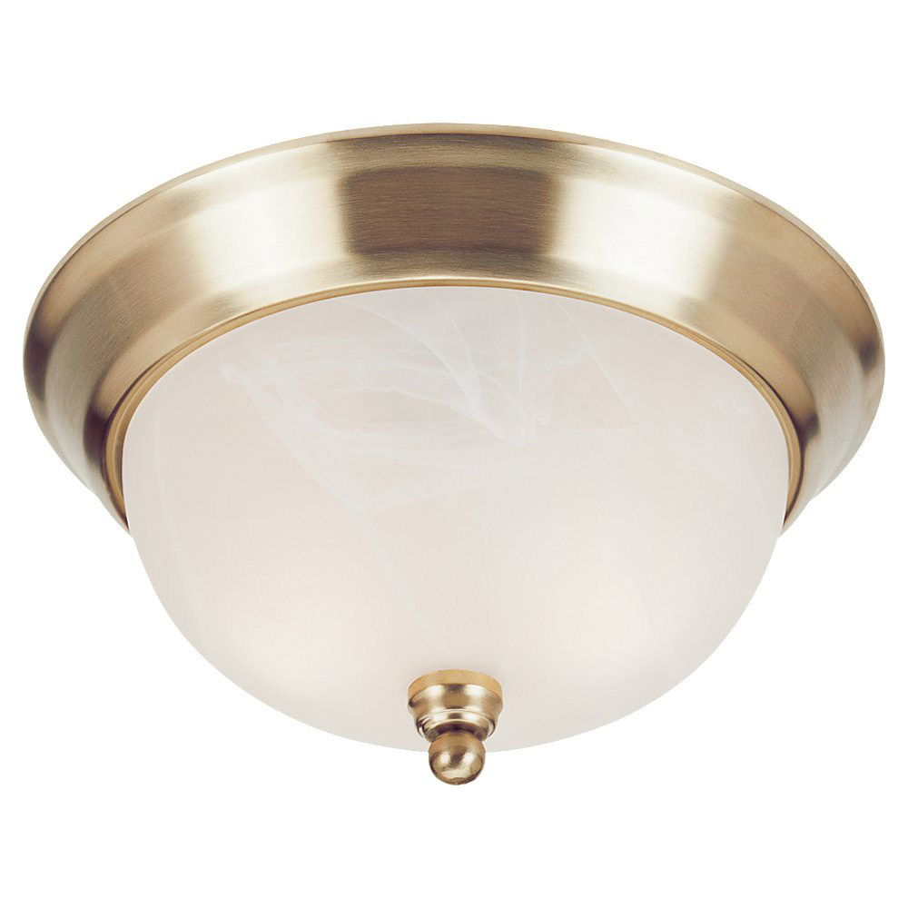 Sea Gull Lighting Landon 1 Light Fluorescent Flush Mount in Polished Brass 79243BLE-02 photo