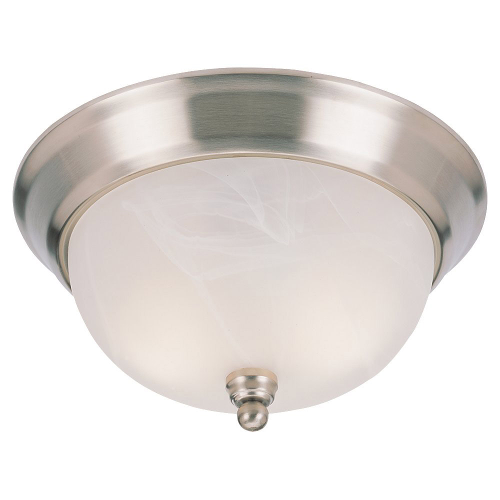 Sea Gull Lighting Landon 1 Light Fluorescent Flush Mount in Brushed Nickel 79243BLE-962 photo