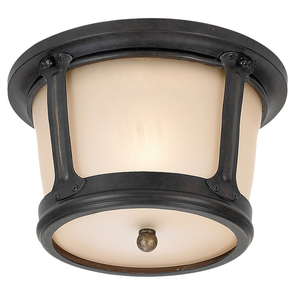 Sea Gull Lighting Cape May 1 Light Outdoor Ceiling Fixture in Burled Iron 79340BLE-780 photo