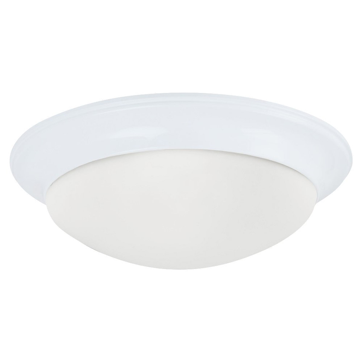 Sea Gull Lighting Nash 1 Light Flush Mount in White 79434BLE-15