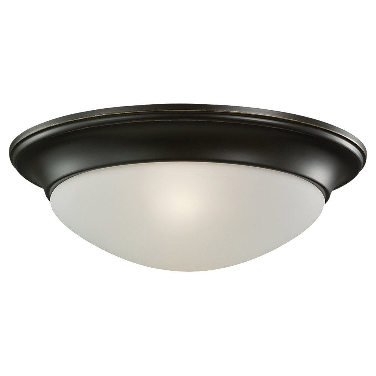 Sea Gull Lighting Nash 1 Light Flush Mount in Heirloom Bronze 79434BLE-782