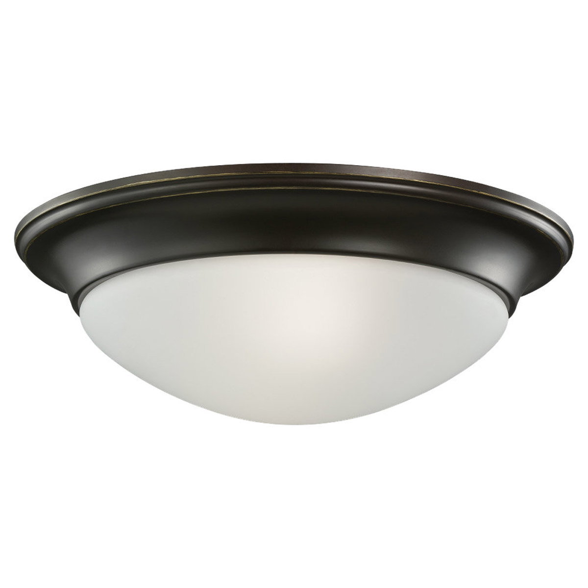 Sea Gull 79435BLE-782 Nash 2 Light 14 inch Heirloom Bronze Flush Mount Ceiling Light photo