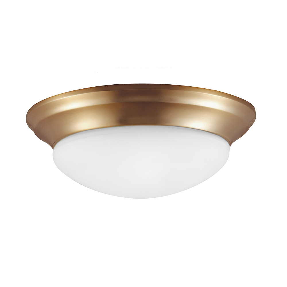 Sea Gull Nash 2 Light Flush Mount in Satin Bronze 79435BLE-848 photo