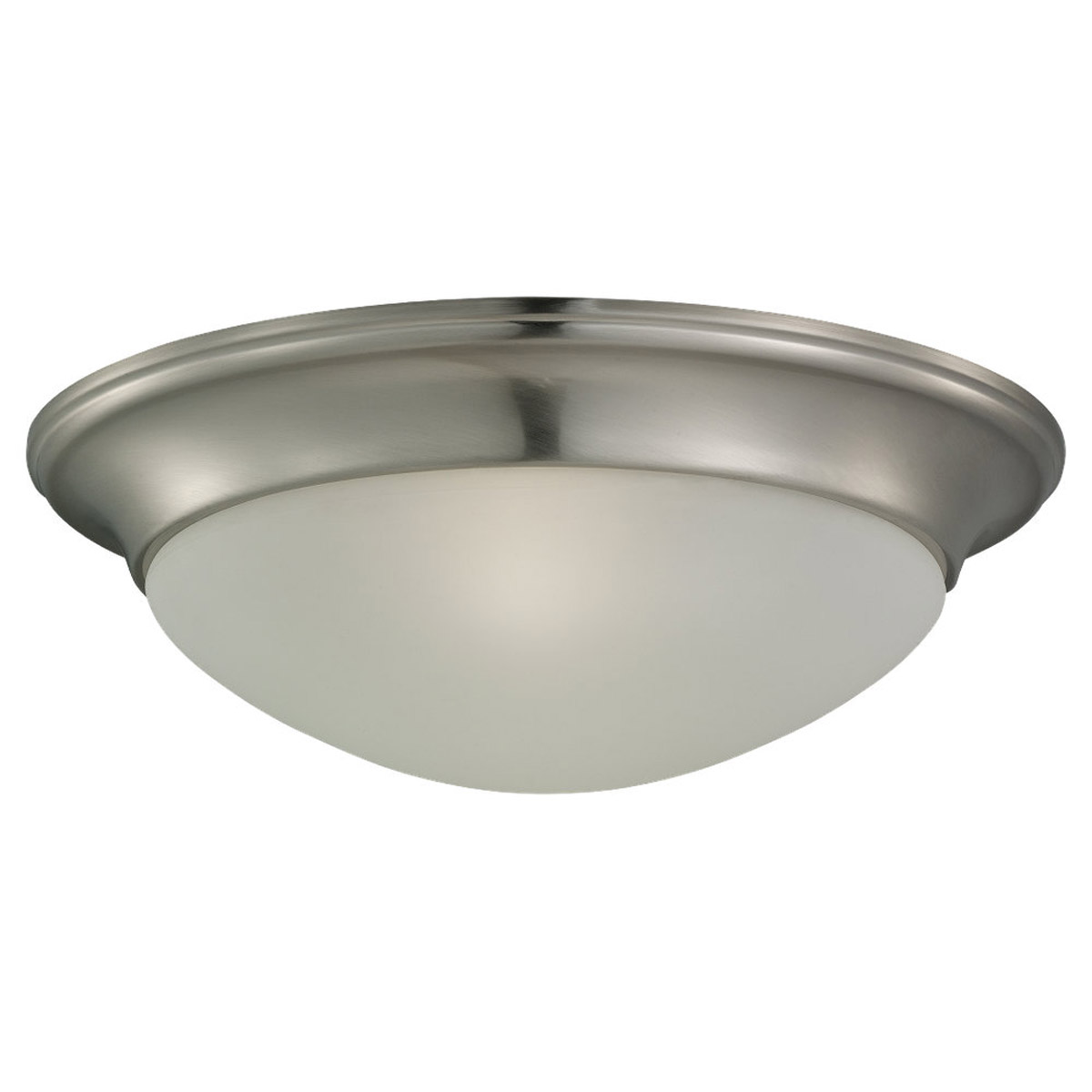 Sea Gull Lighting Nash 2 Light Flush Mount in Brushed Nickel 79435BLE-962