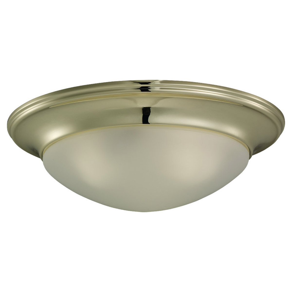 Sea Gull Lighting Nash 3 Light Fluorescent Flush Mount in Polished Brass 79436BLE-02 photo