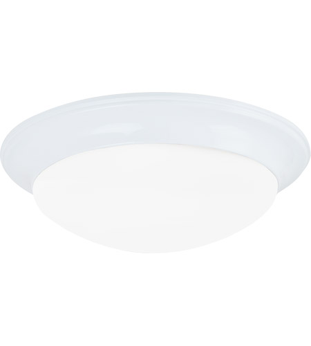 Sea Gull Lighting Nash 3 Light Flush Mount in White 79436BLE-15
