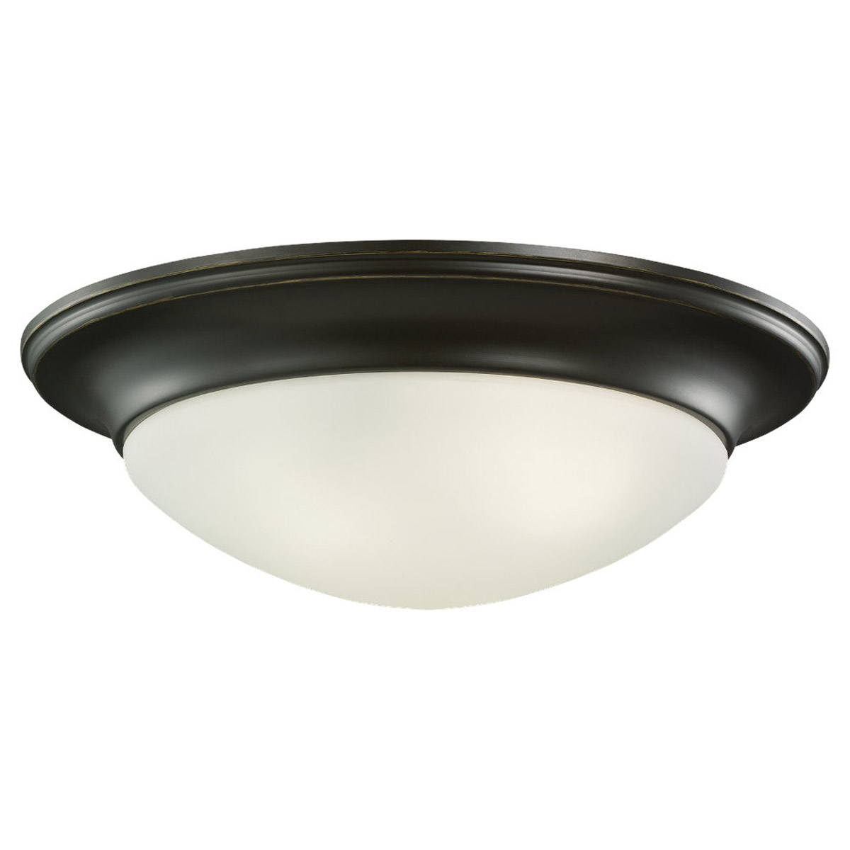 Sea Gull 79436BLE-782 Nash 3 Light 17 inch Heirloom Bronze Flush Mount Ceiling Light photo