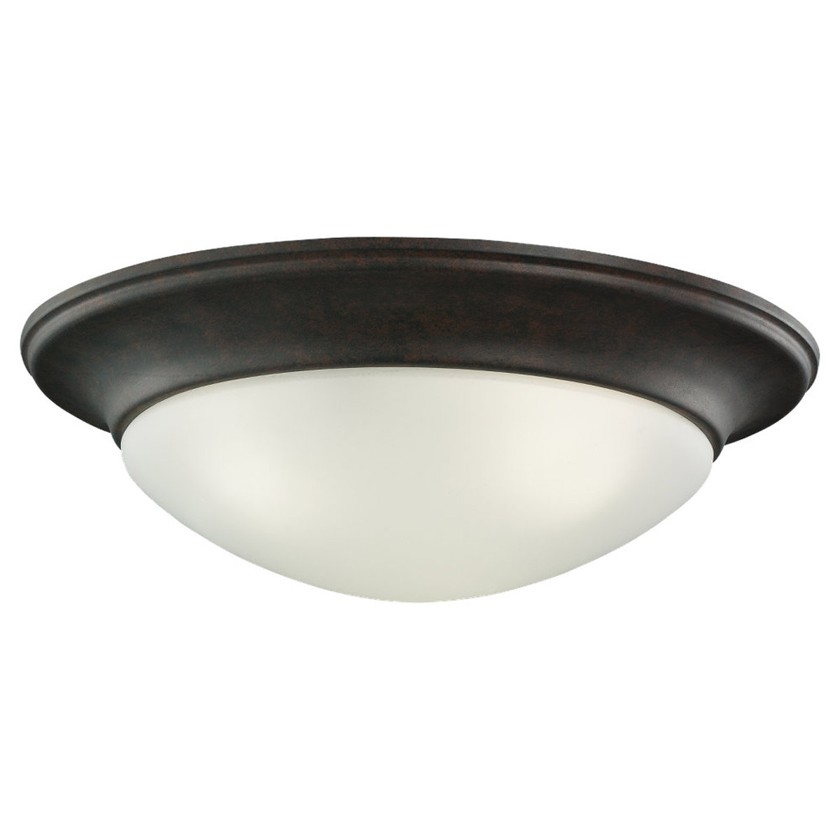 Sea Gull Lighting Nash 3 Light Fluorescent Flush Mount in Misted Bronze 79436BLE-814