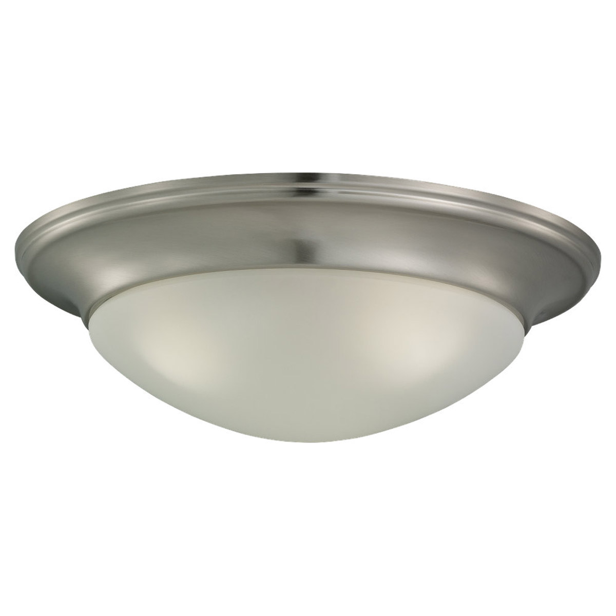 Sea Gull Lighting Nash 3 Light Flush Mount in Brushed Nickel 79436BLE-962