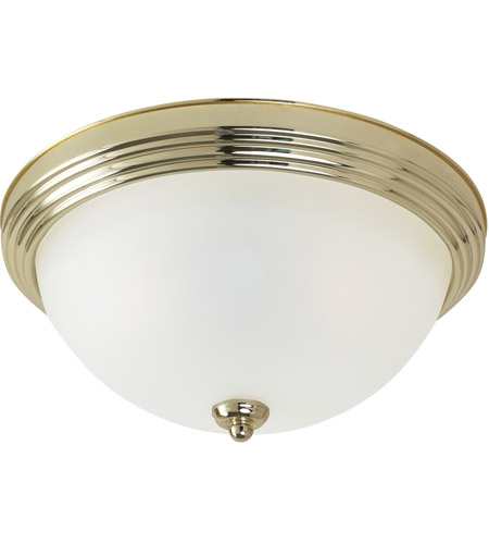 Sea Gull Signature 3 Light Flush Mount in Polished Brass 79565BLE-02