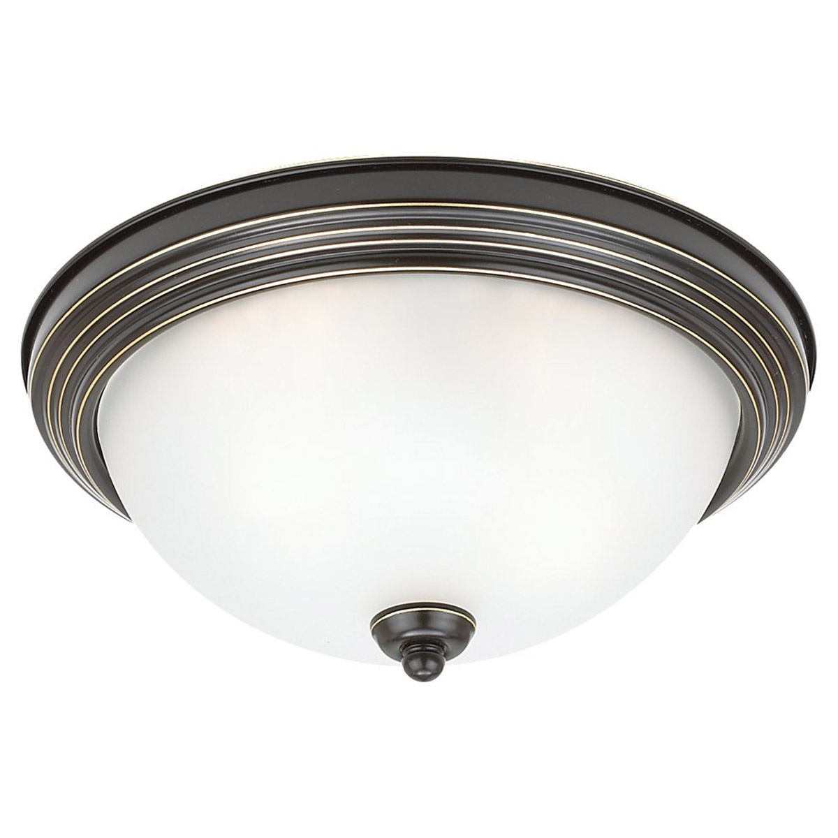 Sea Gull Lighting Albany 3 Light Flush Mount in Heirloom Bronze 79565BLE-782