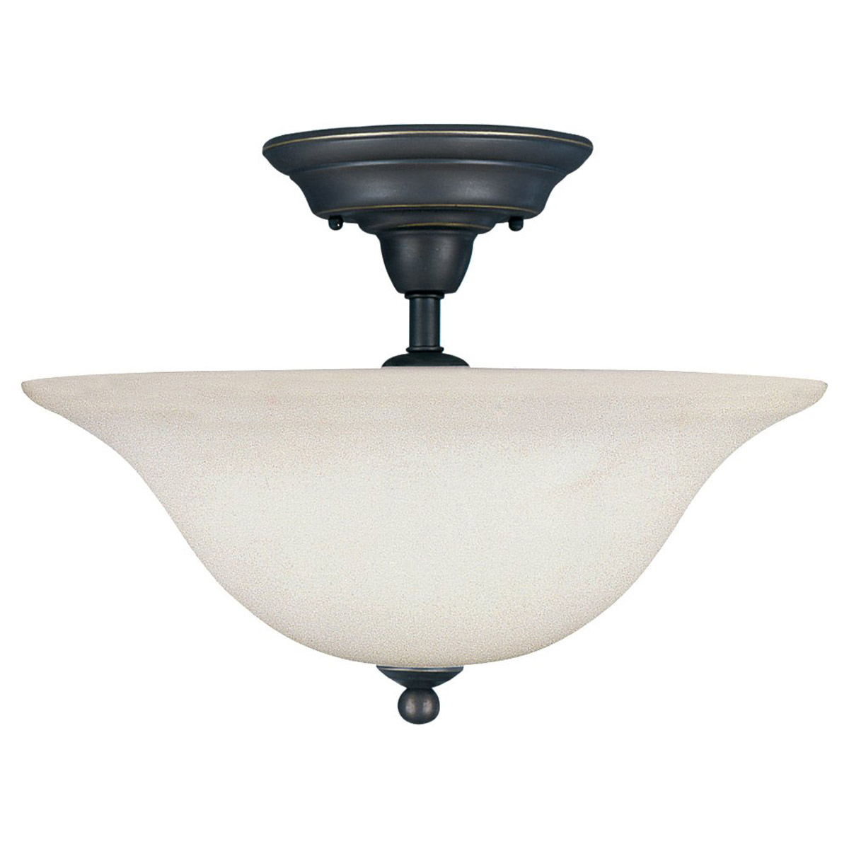 Sea Gull Lighting Sussex 3 Light Semi-Flush Mount in Heirloom Bronze 79661BLE-782