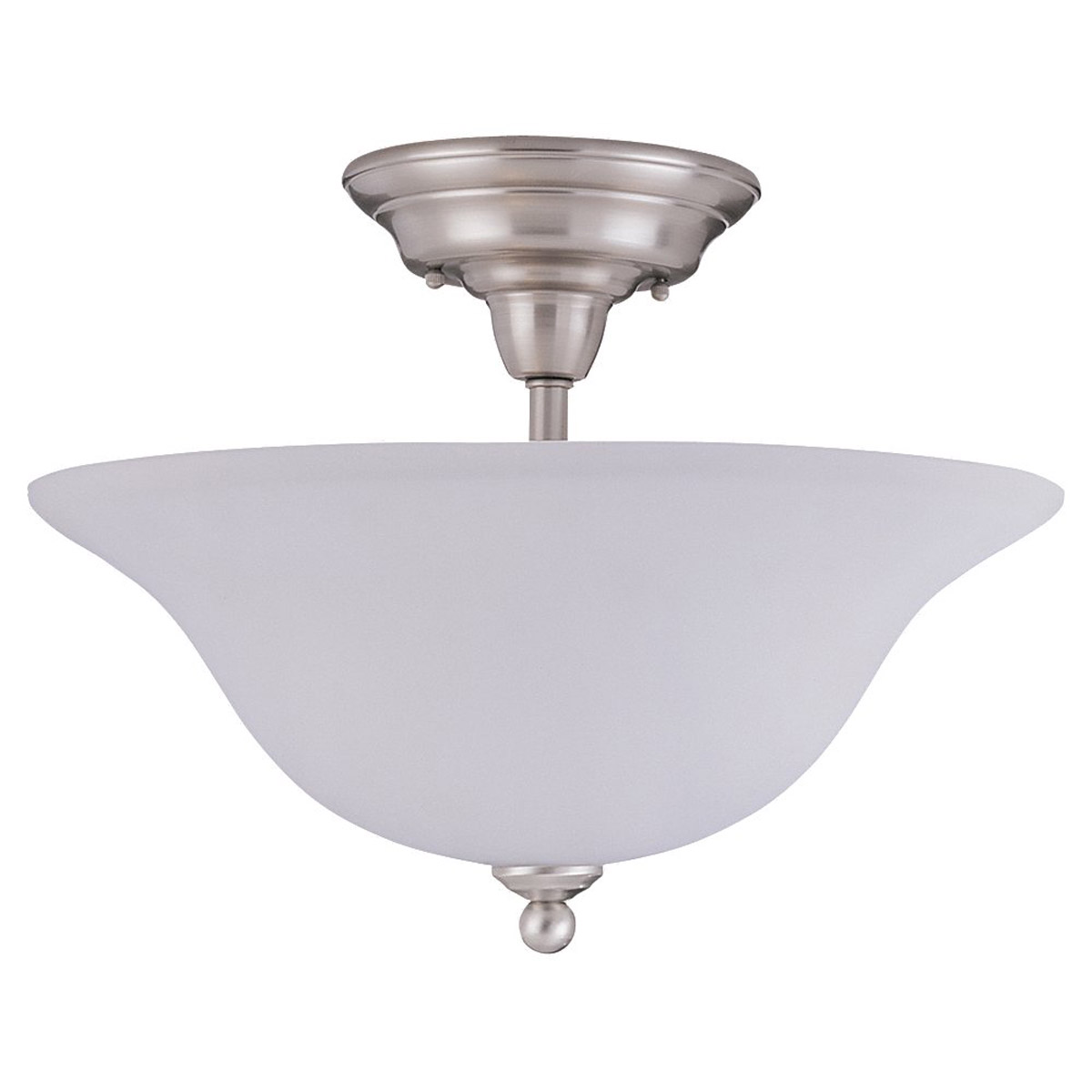 Sea Gull Lighting Sussex 3 Light Semi-Flush Mount in Brushed Nickel 79661BLE-962