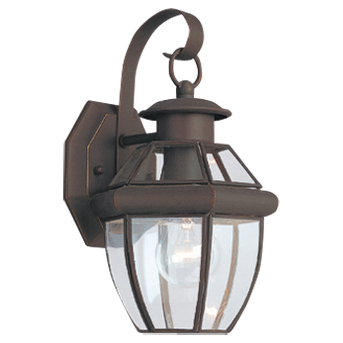 Sea Gull Lighting Lancaster 1 Light Outdoor Wall Lantern in Antique Bronze 8037-71