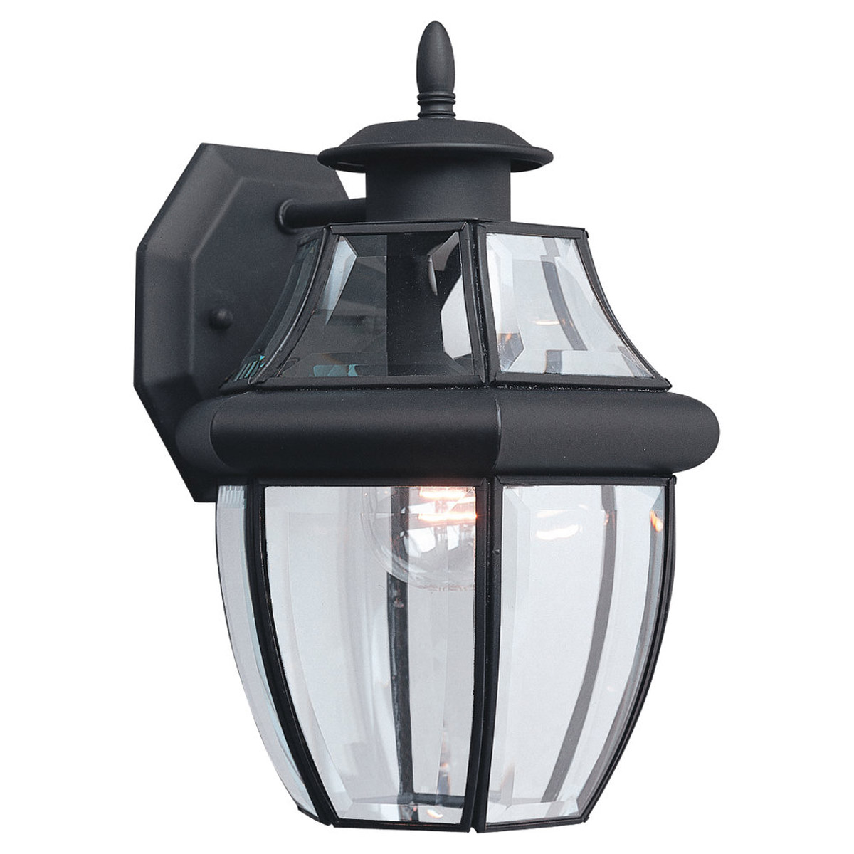 Sea Gull Lighting Lancaster 1 Light Outdoor Wall Lantern in Black 8038-12 photo