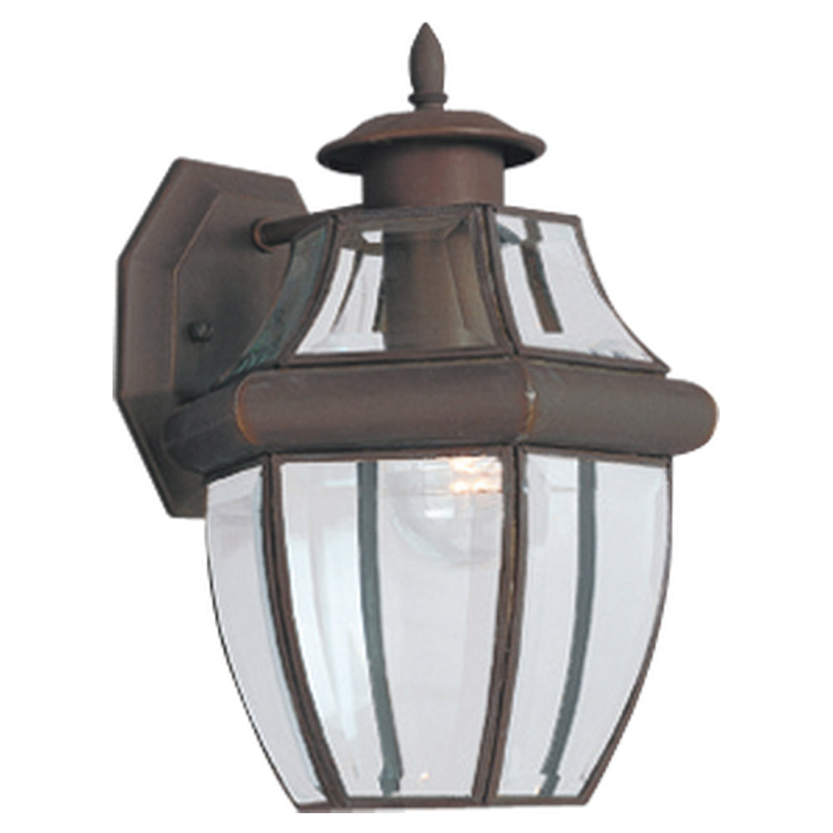 Sea Gull Lighting Lancaster 1 Light Outdoor Wall Lantern in Antique Bronze 8038-71 photo