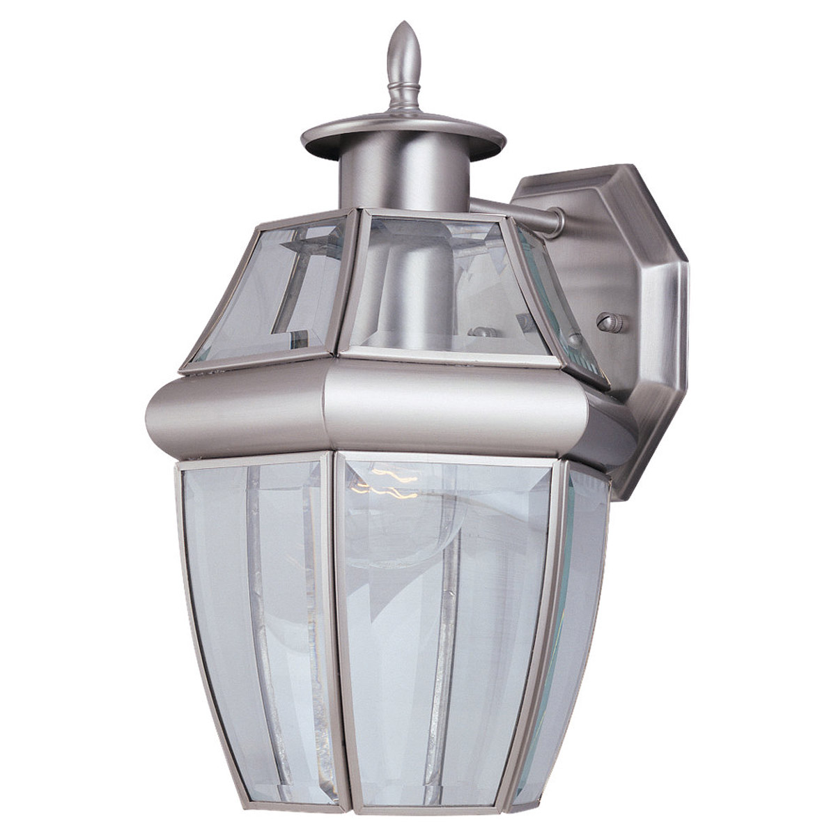 Sea Gull Lighting Lancaster 1 Light Outdoor Wall Lantern in Antique Brushed Nickel 8038-965