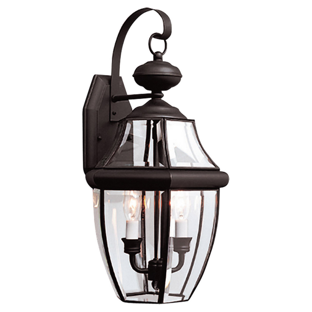 Sea Gull Lighting Lancaster 2 Light Outdoor Wall Lantern in Black 8039-12 photo
