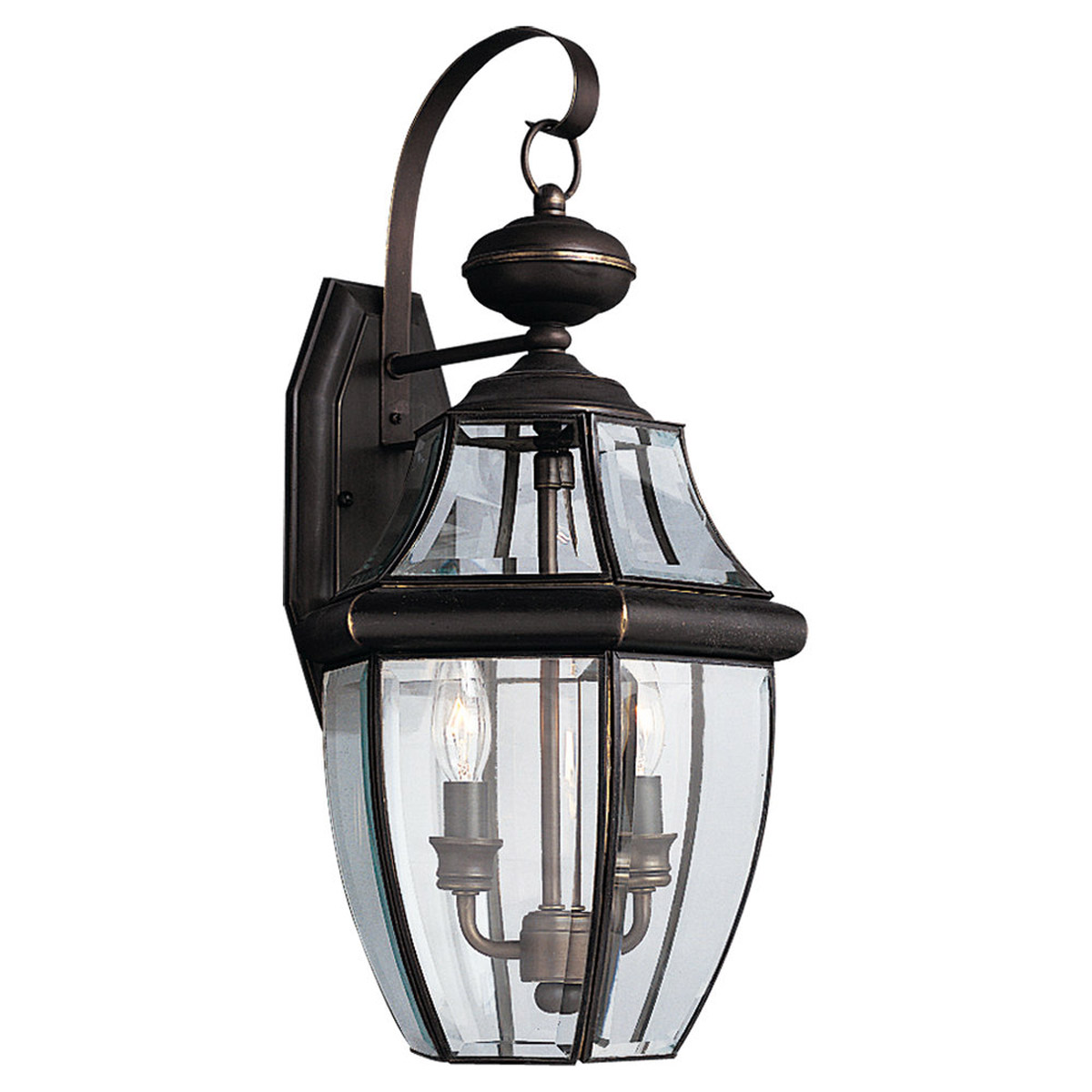 Sea Gull Lighting Lancaster 2 Light Outdoor Wall Lantern in Antique Bronze 8039-71