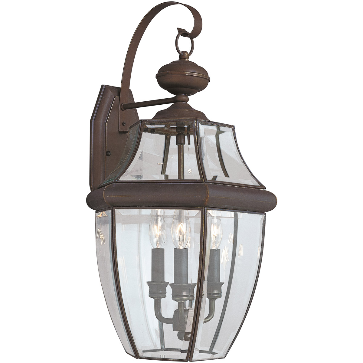 Sea Gull 8040-71 Lancaster 3 Light 23 inch Antique Bronze Outdoor Wall Lantern photo