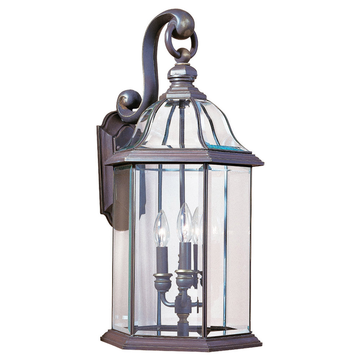 Sea Gull Lighting Barclay 3 Light Outdoor Wall Lantern in Antique Bronze 8052-71 photo