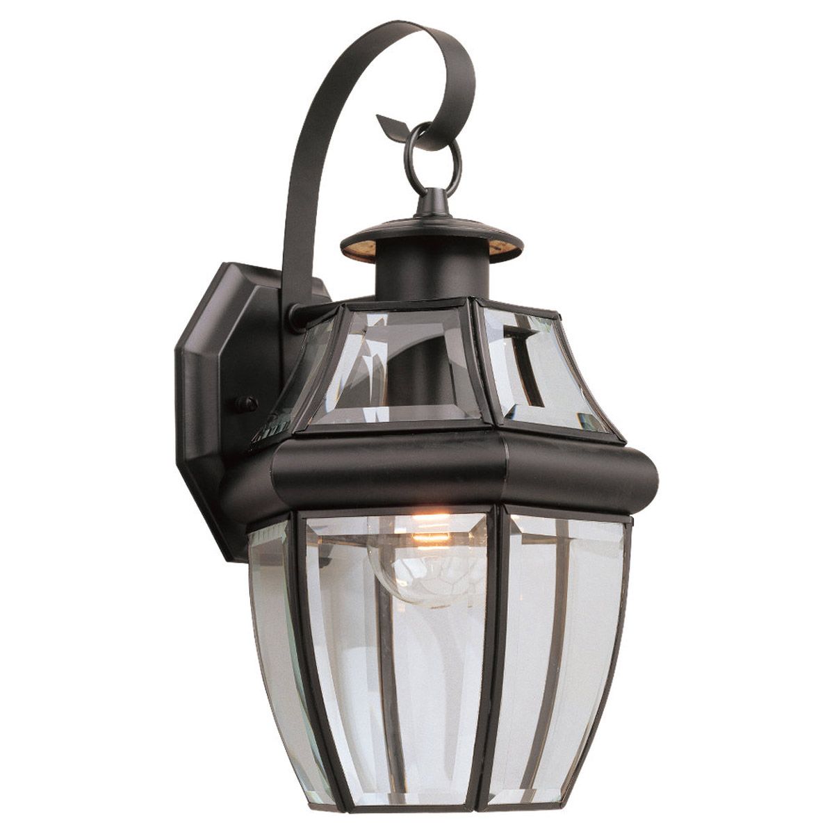 Sea Gull 8067-12 Lancaster 1 Light 14 inch Black Outdoor Wall Lantern photo