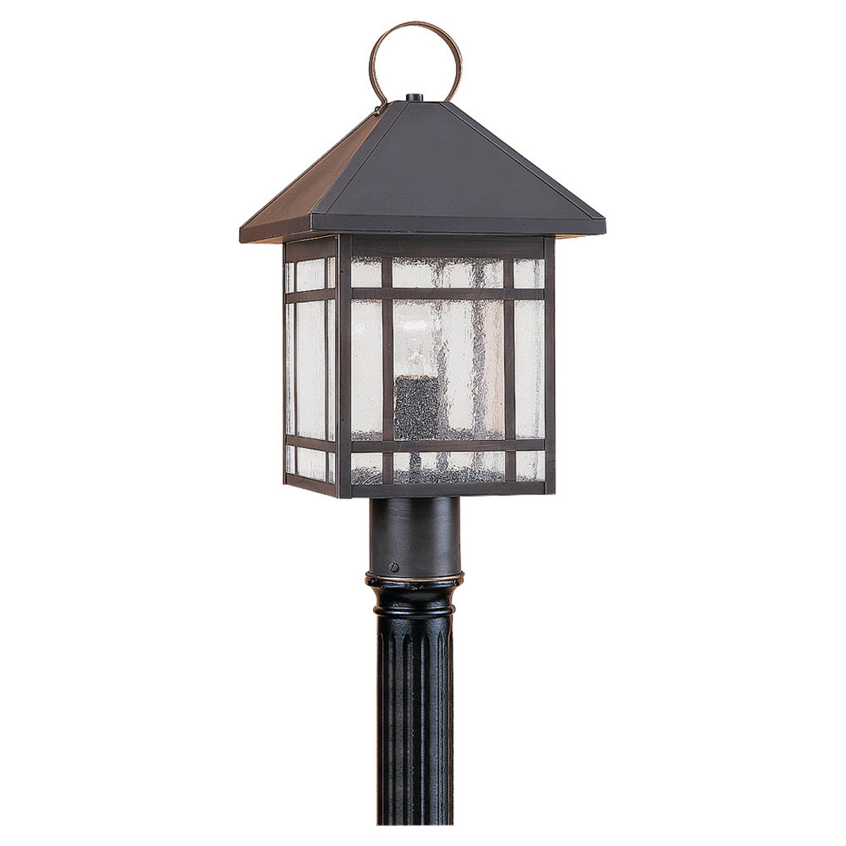 Sea Gull Lighting Largo 1 Light Outdoor Post Lantern in Antique Bronze 82007-71