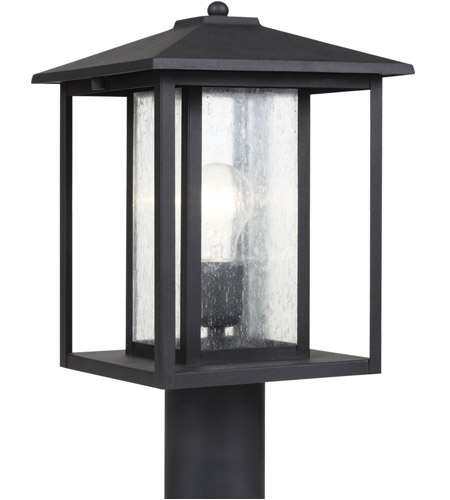 Sea Gull 82027-12 Hunnington 1 Light 15 inch Black Outdoor Post Lantern photo