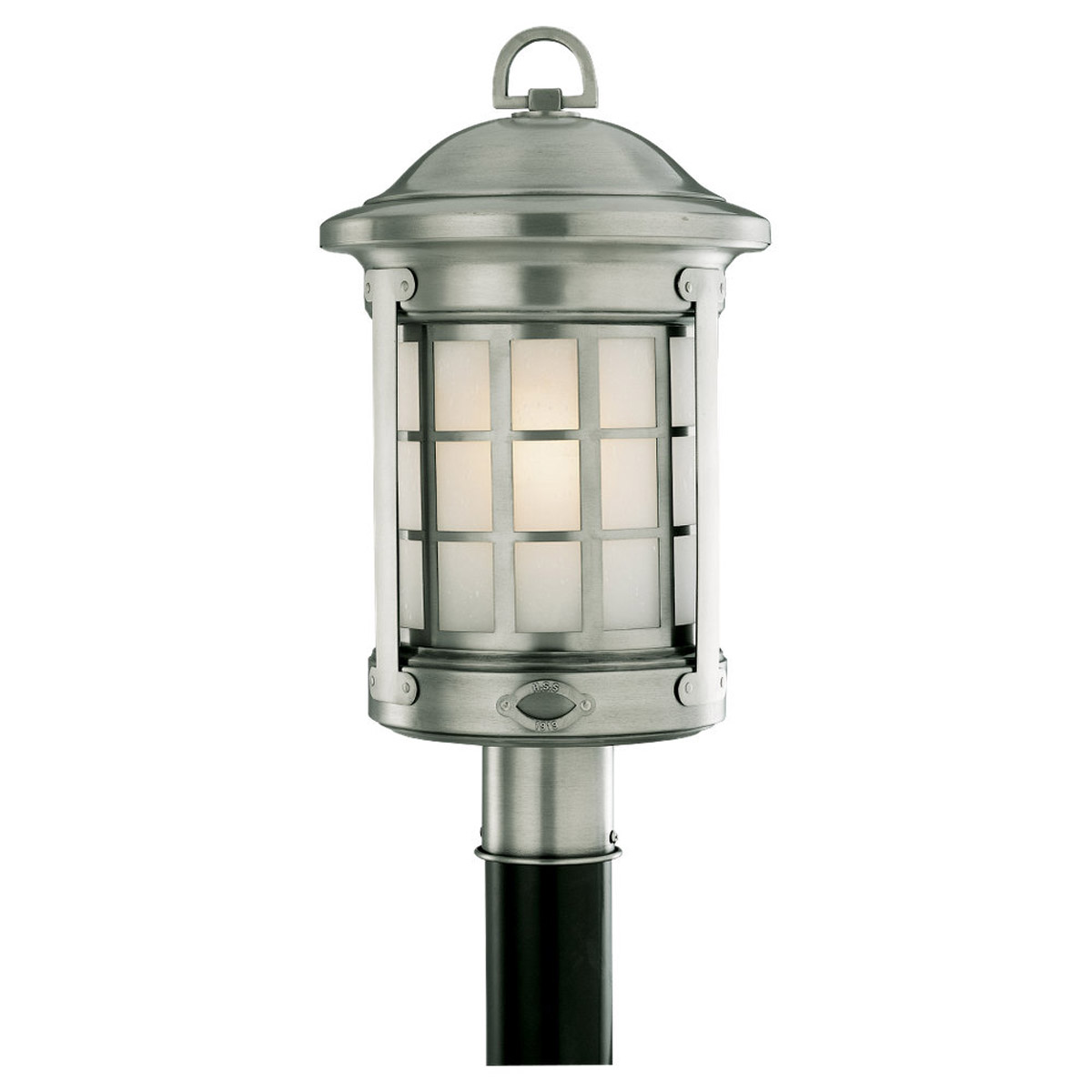 Sea Gull Lighting HSS CO-OP 1 Light Outdoor Post Lantern in Brushed Nickel 82041-962 photo