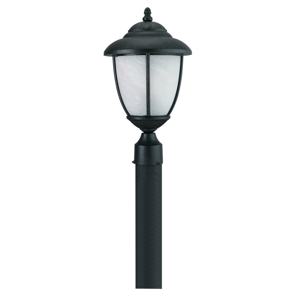 Sea Gull 82048-185 Yorktowne 1 Light 17 inch Forged Iron Outdoor Post Lantern photo