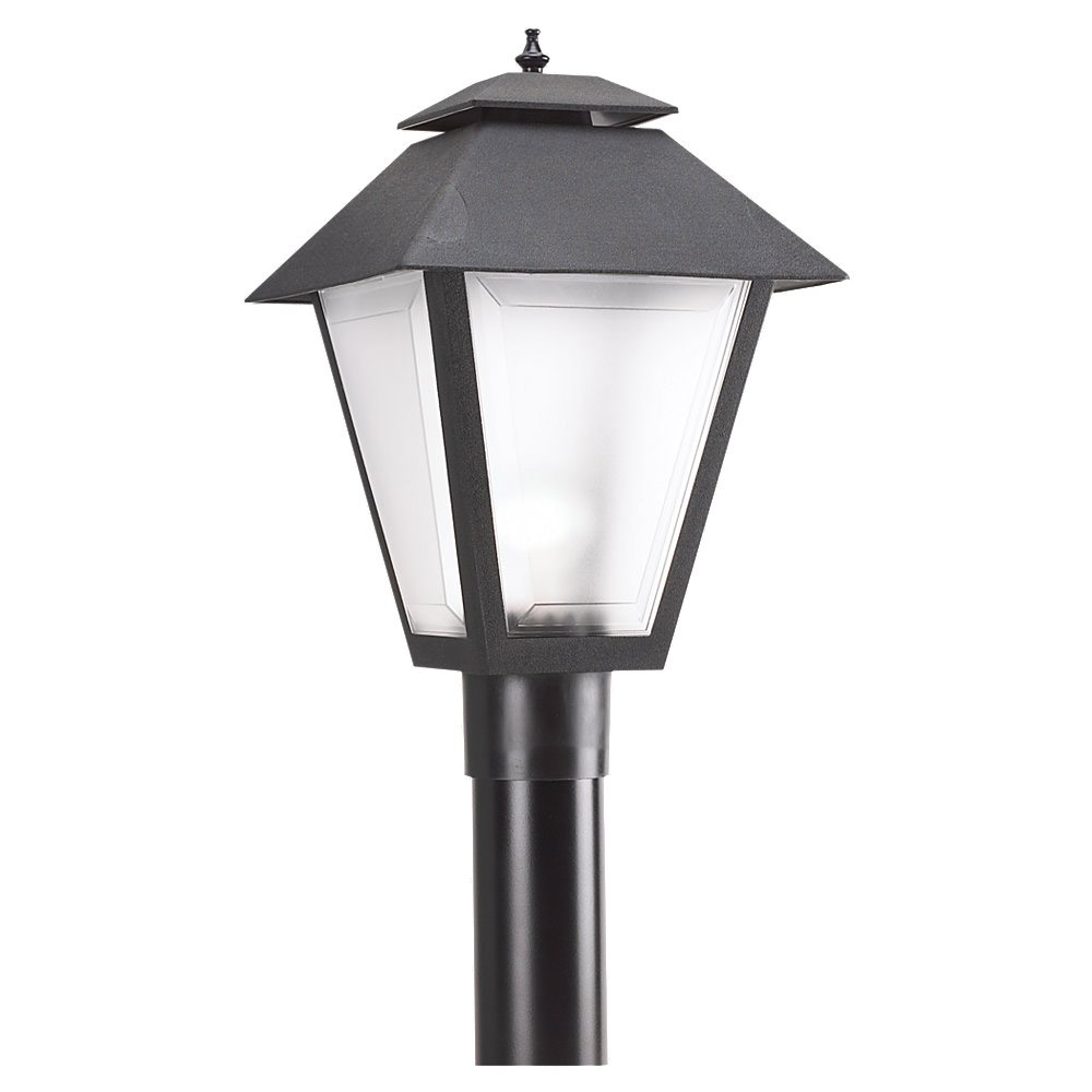 Sea Gull 82065-12 Signature 1 Light 18 inch Black Outdoor Post Lantern in Standard photo