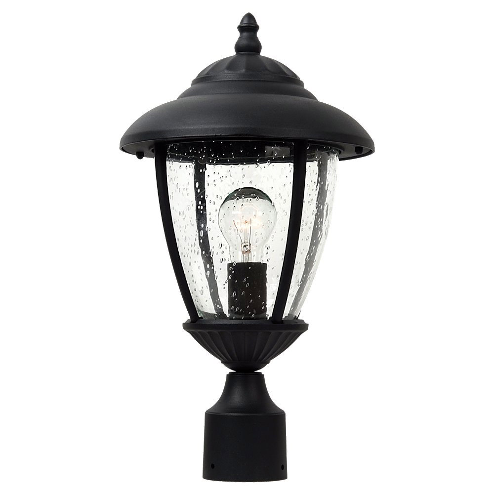 Sea Gull Lighting Lambert Hill 1 Light Outdoor Post Lantern in Black 82068-12