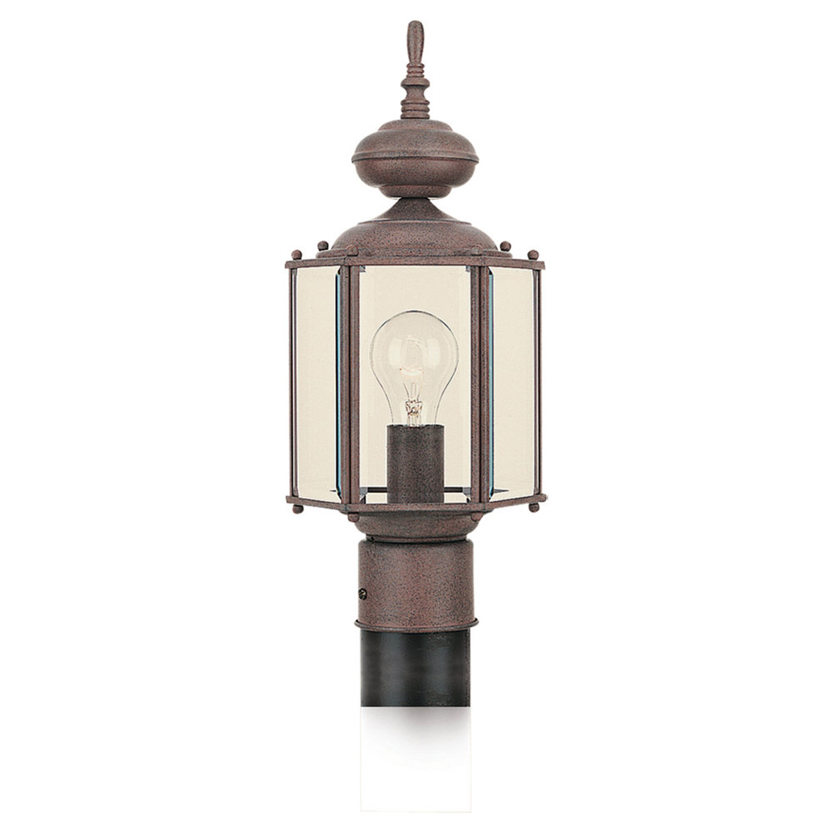 Sea Gull 8209-26 Classico 1 Light 16 inch Sienna Outdoor Post Lantern photo