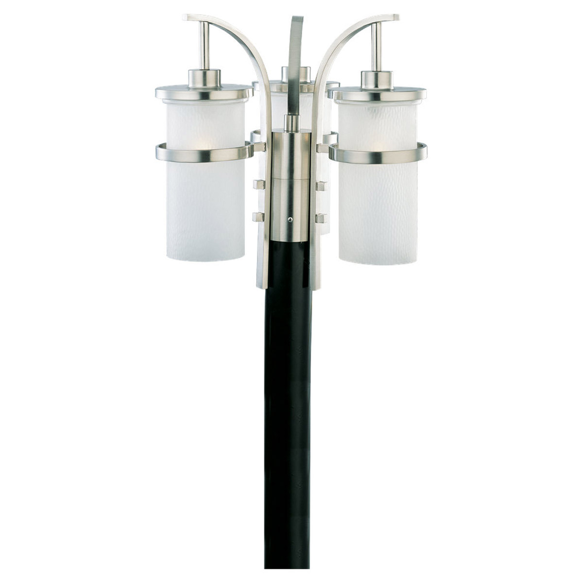 Sea Gull Lighting Eternity 3 Light Outdoor Post Lantern in Brushed Nickel 82115-962 photo